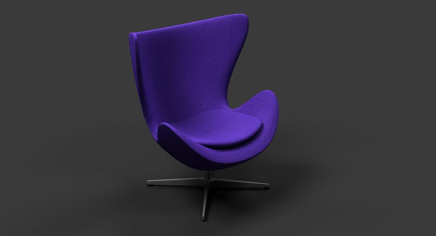 Arne Jacobsen Egg Chair.Arne Jacobsen Egg Chair 3d Model In Chair 3dexport