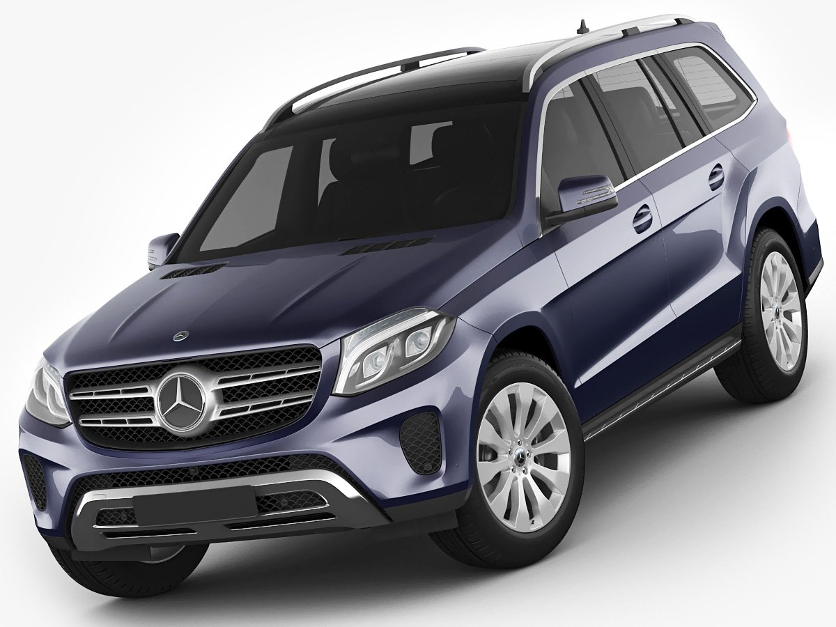 All Types mercedes gls 2017 : Mercedes GLS 2017 3D Model in SUV 3DExport