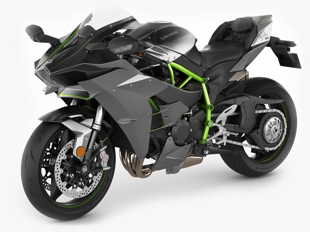 Kawasaki Ninja H2 3D Model in Motorcycle 3DExport
