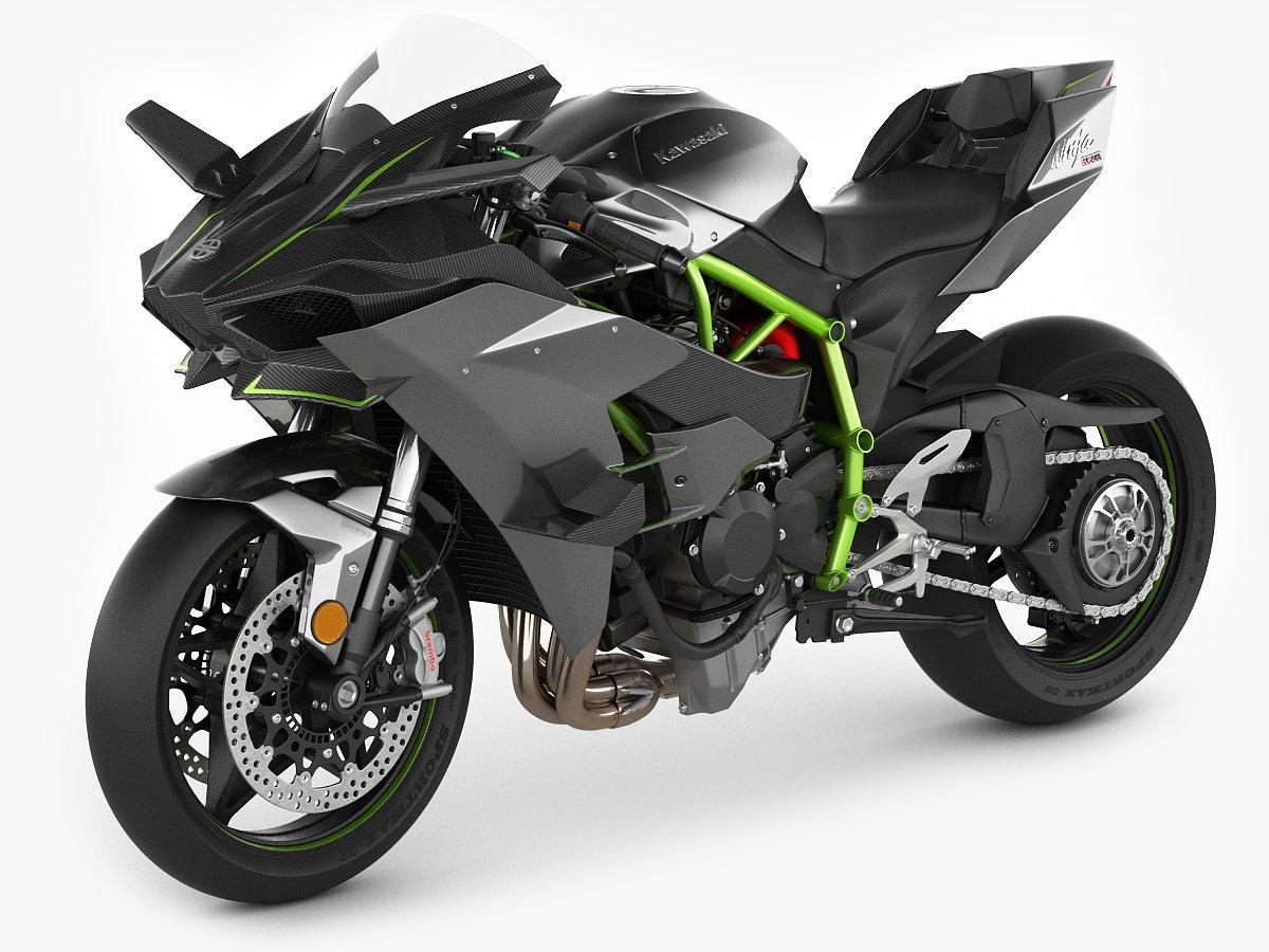 Kawasaki Ninja H2R 3D Model In Motor 3DExport