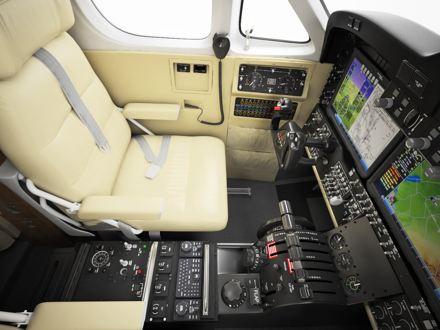 Beechcraft King Air c90gtx interior 3D Model in Other 3DExport