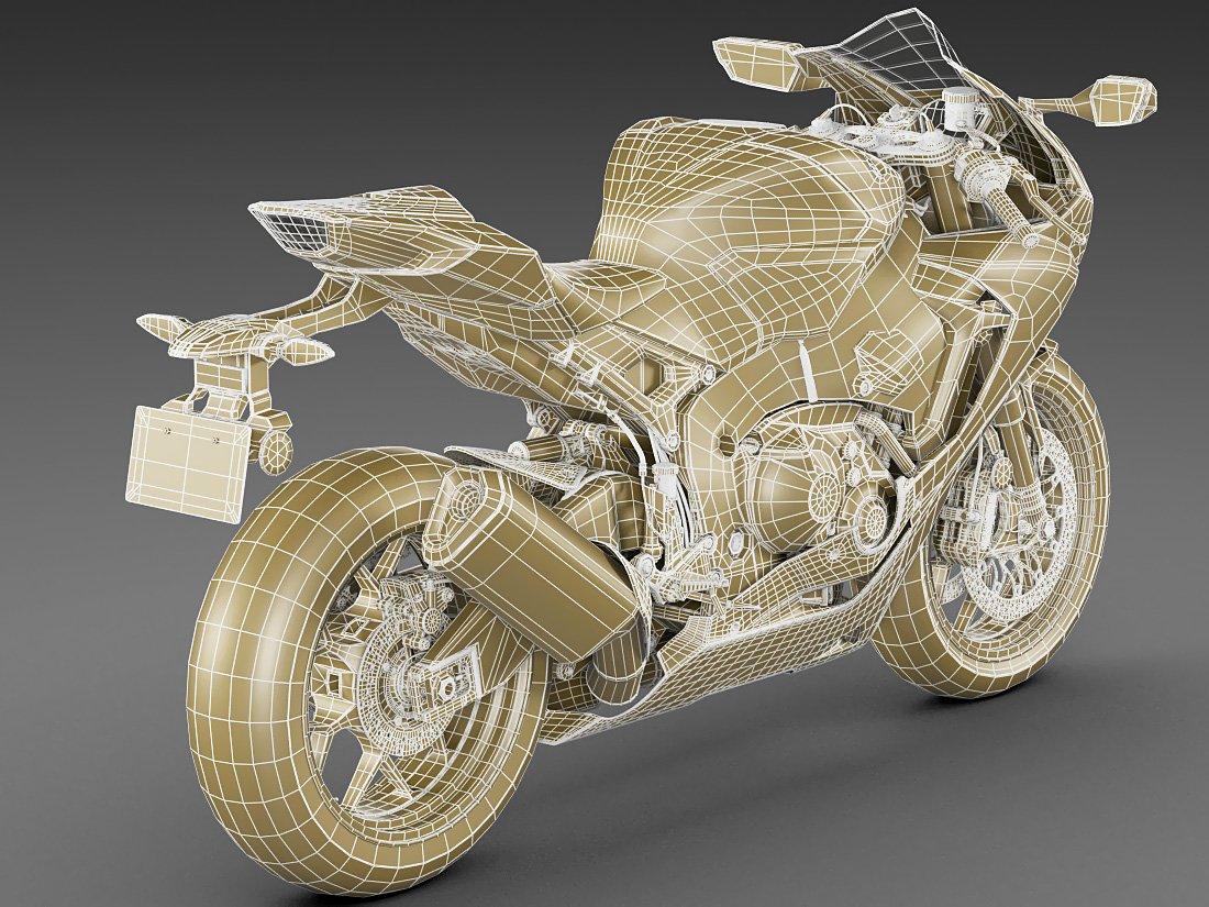 Honda CBR1000RR Fireblade 2018 3D Model in Motorcycle 3DExport