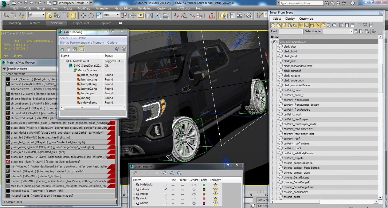 GMC Sierra Denali 2019 3D Model in SUV 3DExport