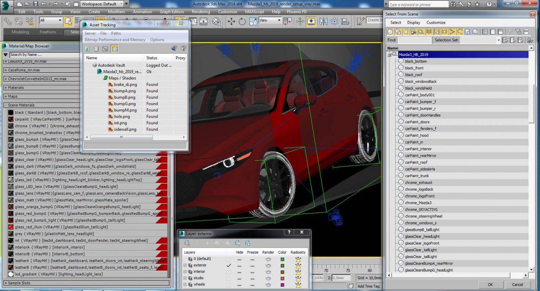 Mazda 3 hatchback 2019 3D Model in Compact Cars 3DExport