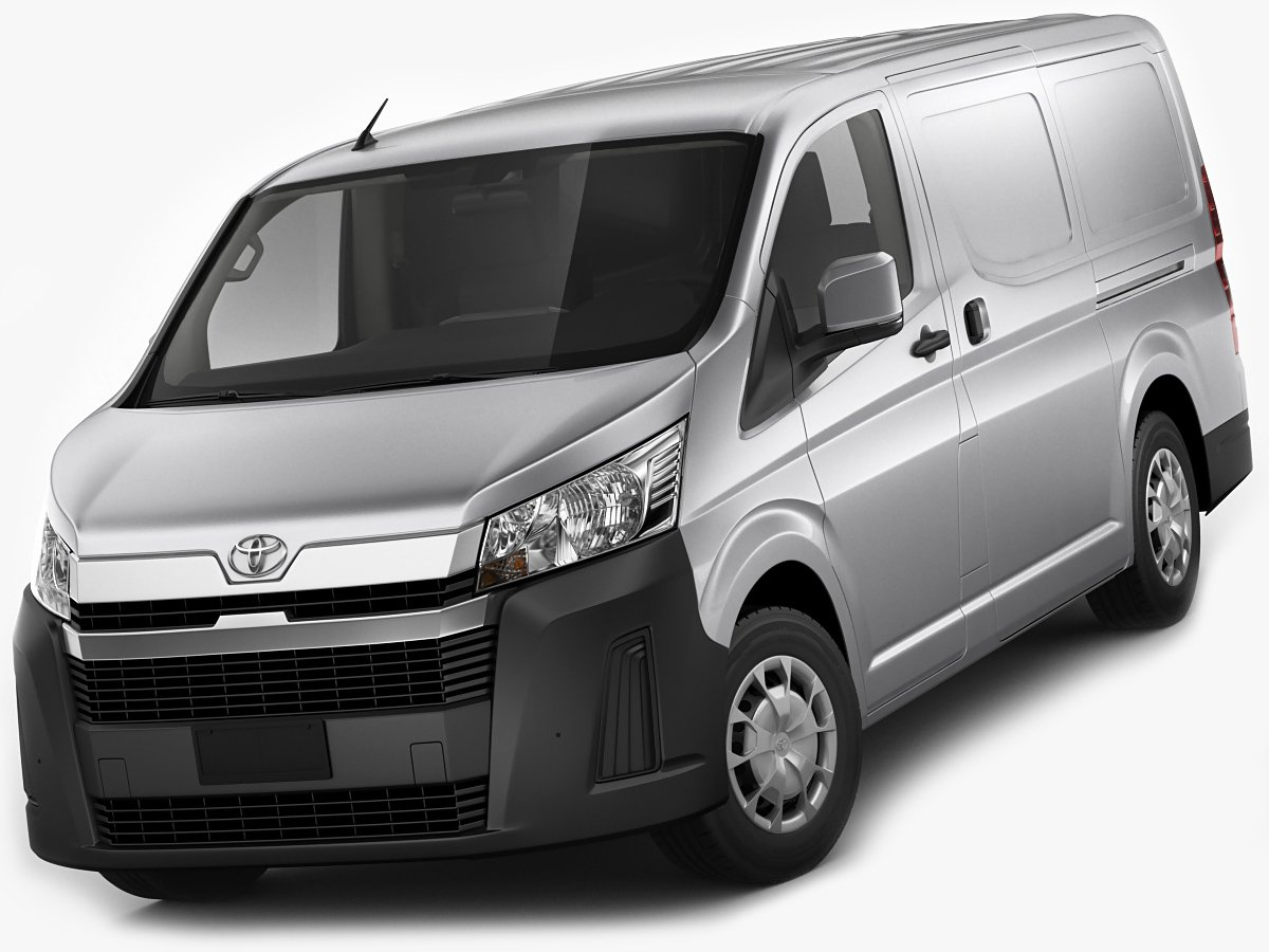 toyota hiace van lwb 2020 3d model in van and minivan 3dexport