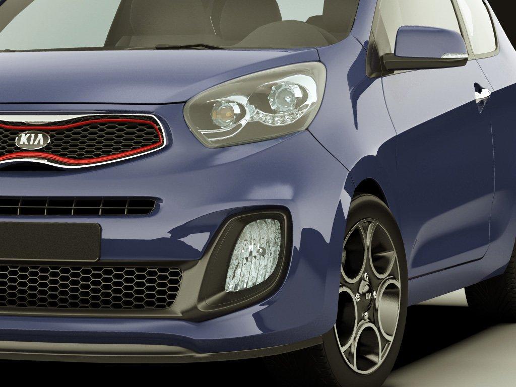 מדהים Kia Picanto Sport 2012 3door 3D Model in Compact Cars 3DExport MB-25