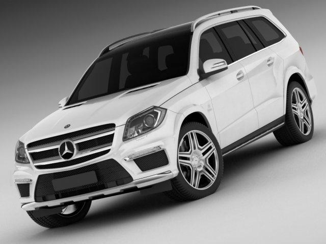 Mercedes GL AMG 2013 3D Model