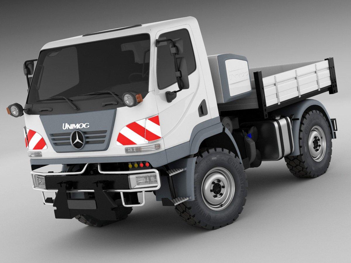 23386826ed Mercedes Unimog U20 3D-Modell in LKW 3DExport