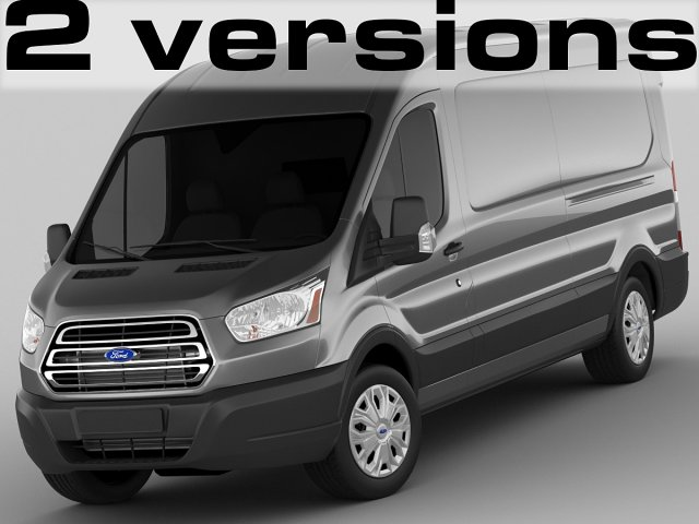 Ford Transit Maxi Van 2014 3D Model