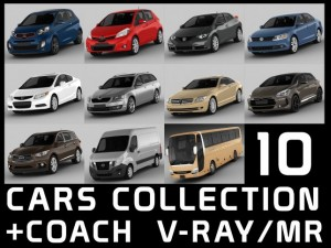10 cars collection plus coach