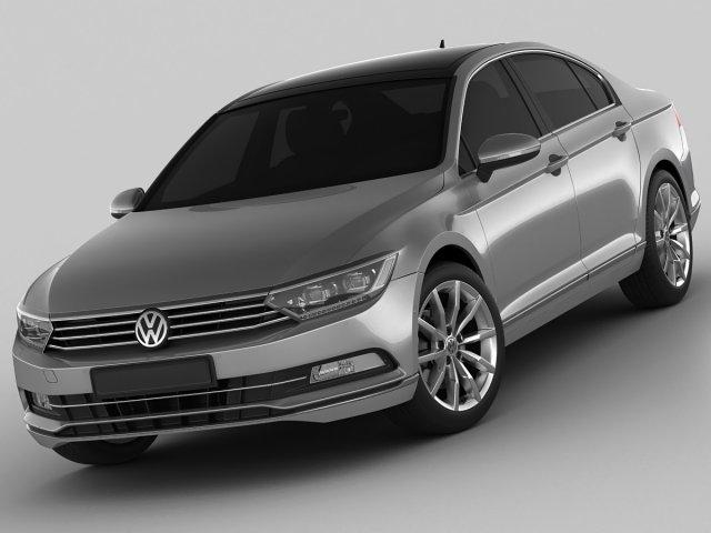 VW Passat 2015 3D Model