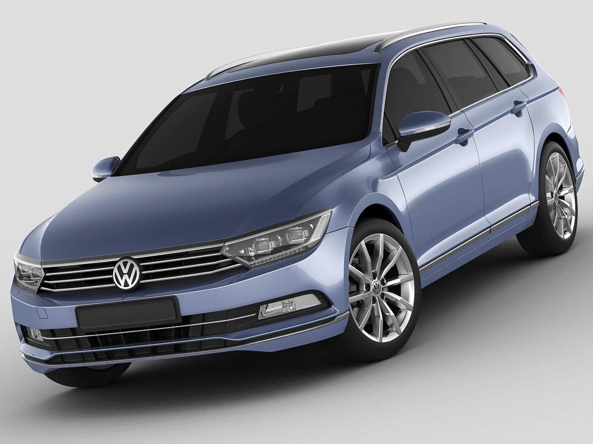 VW Passat Variant 2015 3D Model in Wagon 3DExport