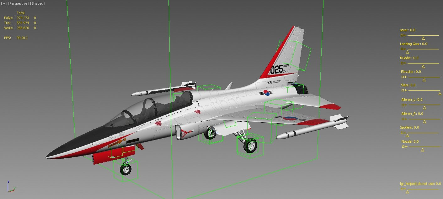 KAI T50 Golden Eagle 3D Model in Fighter 3DExport