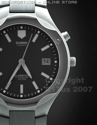 Casio Lineage Lin 160B Watches 3D Model