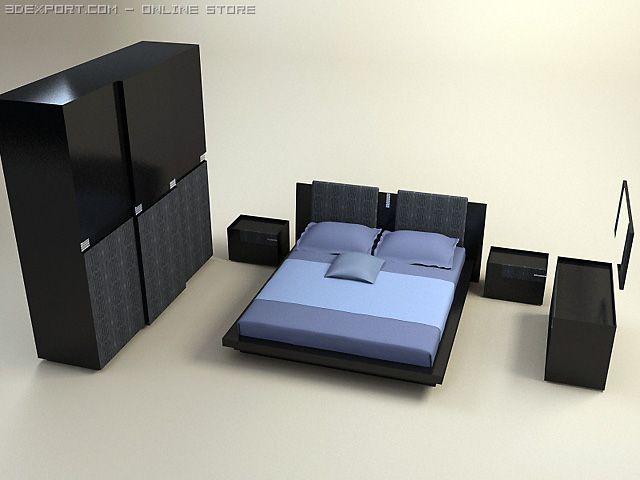 Diamond bedroom set 3D Model