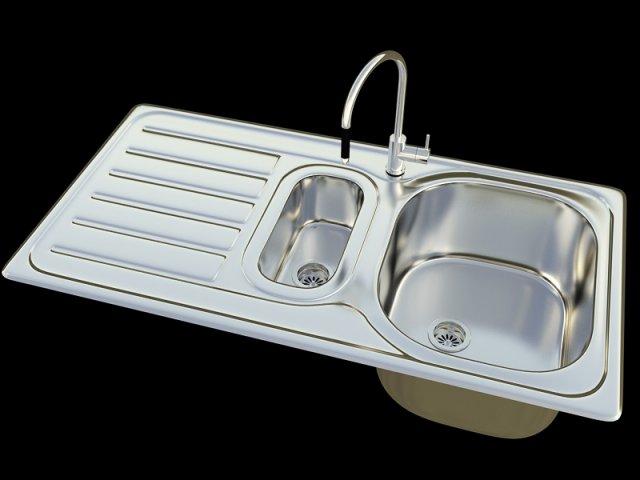 KItchen sink Bianco Lanis 6S 3D Model