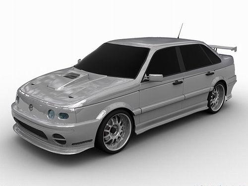 VW Passat B3 tuned 3D Model