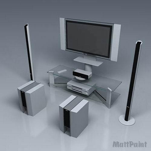 Home Theater Sony 3d Model In Tv 3dexport