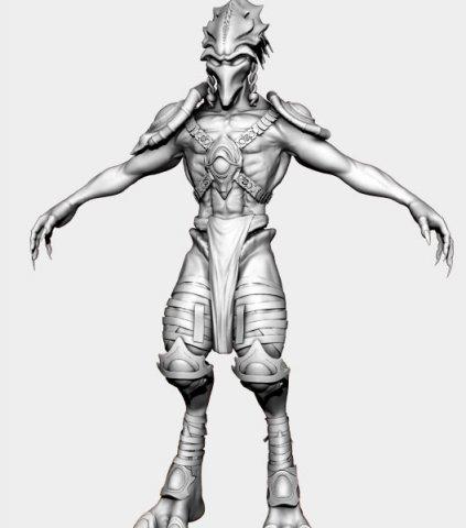 Alien Protoss 3D Model