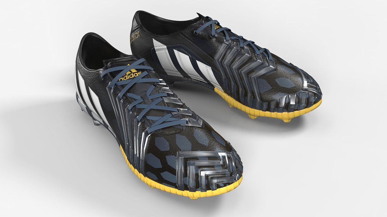 Botas Adidas Predator modelo 3D en ropa 3dexport