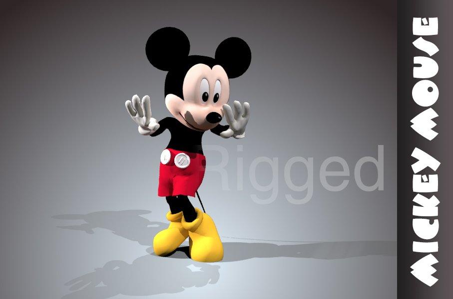 Mickey mouse rigged 3D model 3D Model in Cartoon 3DExport