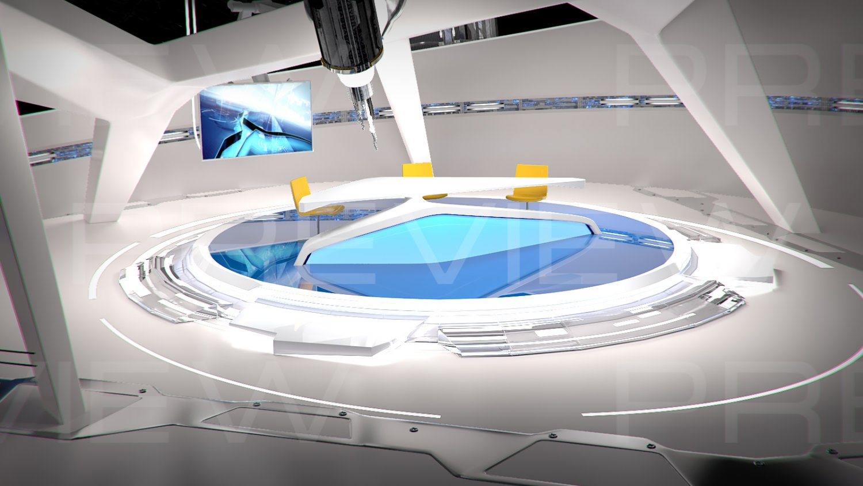 Virtual TV Studio 09 3D Model in Exhibit 3DExport