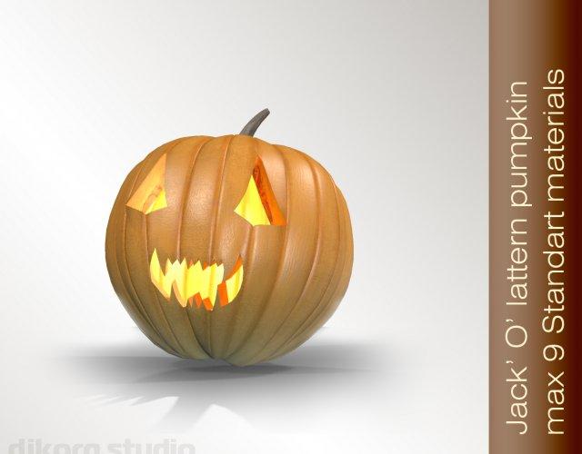 Halloween Pumpkin JackOLantern 3D Model
