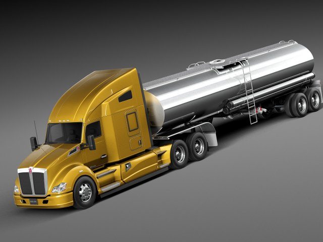 Kenworth T680 2015 Tanker 3D Model