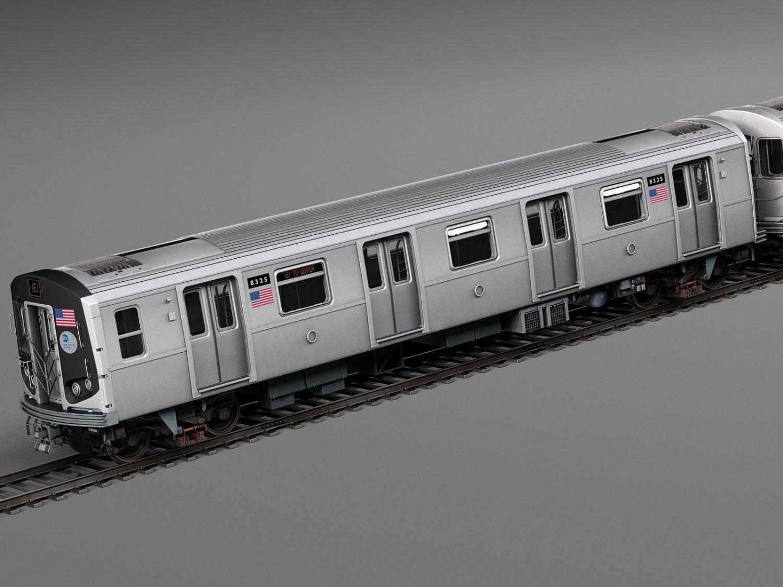 R160 Train New York City Subway 3D Model in Train 3DExport
