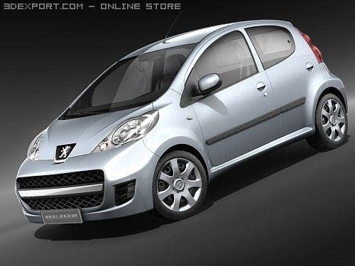 Peugeot 107 3D Model