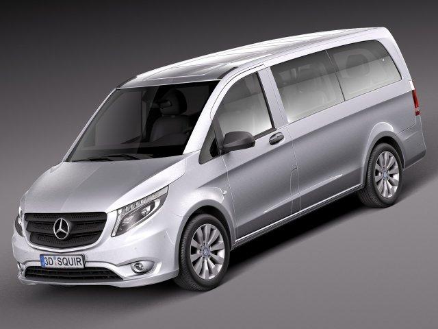 Mercedes-Benz Vito Tourer 2016 3D Model