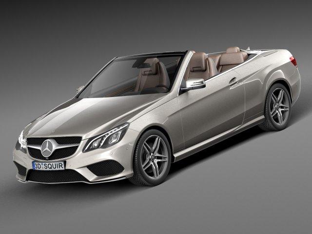 Mercedes-Benz E-Class AMG Convertible 2015 3D Model