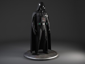 Star Wars Darth Vader Rigged for MAYA