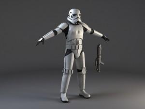 Star Wars Storm Trooper Rigged