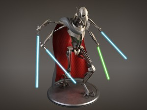 Star Wars General Grievous rigged for Maya