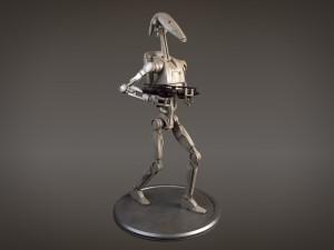 Star Wars Battle Droid rigged for Maya