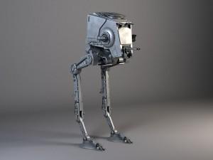 Star Wars AT-ST rigged for Maya