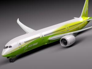 Boeing 787 Dreamliner Green Lemon