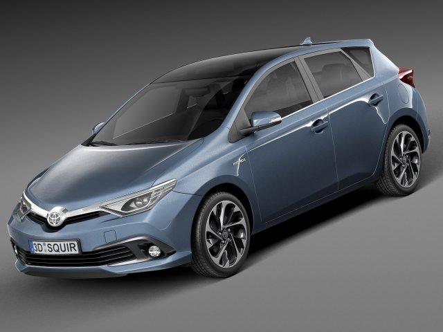 Toyota Auris 2016 3D Model
