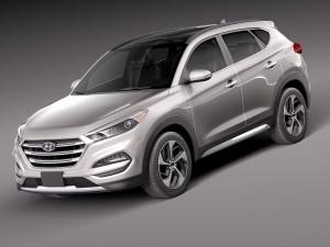 Lowpoly Hyundai Tucson 2016