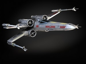 StarWars X-Wing Fighter with Interior