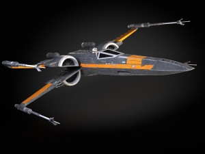 Star Wars X-Wing Fighter Black with Interior