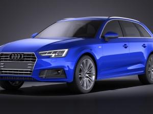 Audi A4 S-Line Avant 2016 VRAY