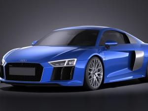 Audi R8 V10 2016 VRAY