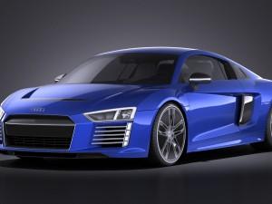 Audi R8 e-tron 2016 VRAY