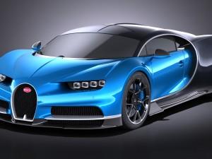 Bugatti Chiron 2017 without interior