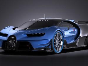Bugatti Vision Gran Turismo Concept 2015 VRAY