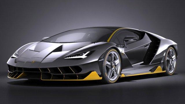 Lamborghini Centenario Lp 770 4 2017 3d Model In Sport Cars 3dexport