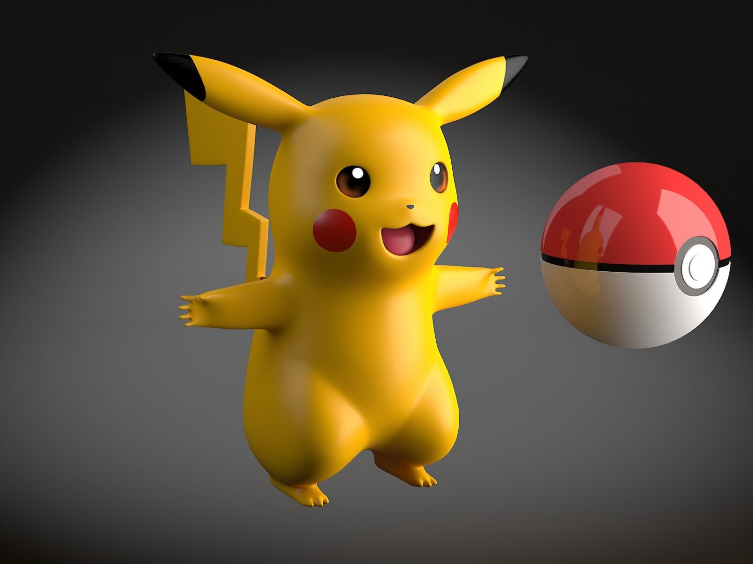 Pikachu Pokemon rigged 3D Model in Cartoon 3DExport