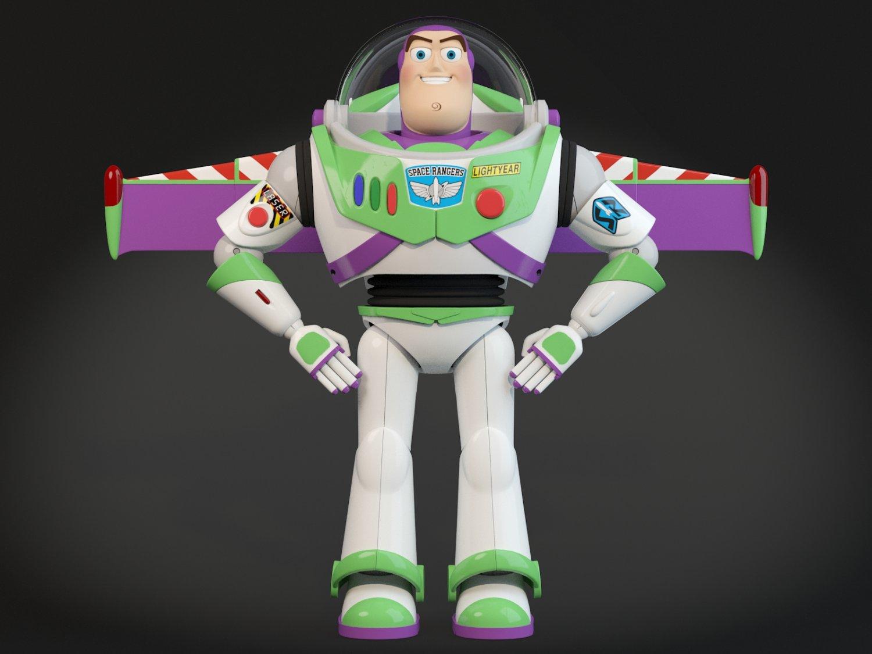 Buzz Lightyear Toy Story 3D Model in Fantasy 3DExport